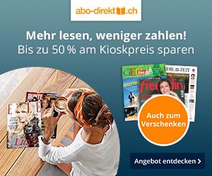 Mit abo-direkt.ch bis zu 50% am Kioskpreis sparen